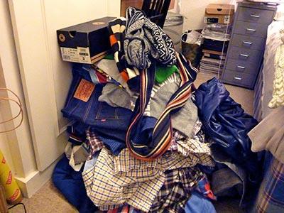 clothes lying around