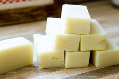 lye is used to make soap.