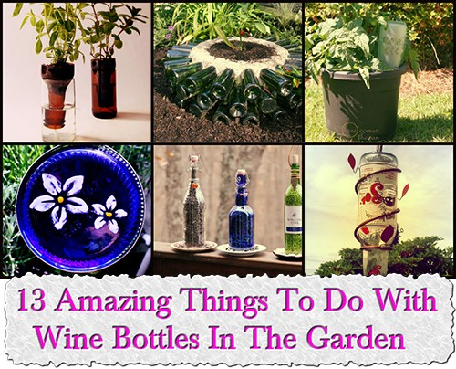 13 amazing things to do with wine bottles in the garden for How to use wine bottles in the garden