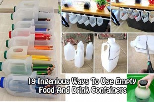 19 Totally Ingenious Ways To Use Empty Food And Drink Containers