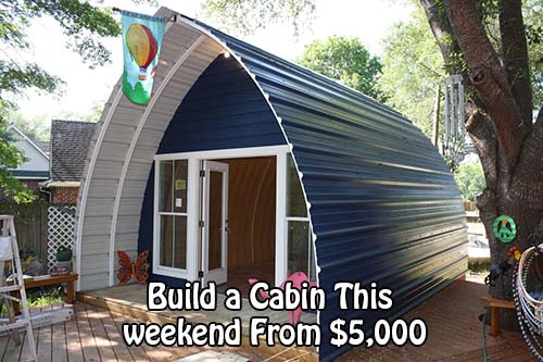 Build a cabin this weekend from 5 000 home and for How to build a cabin on a budget