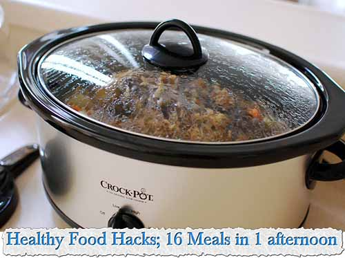 Healthy Food Hacks; 16 Meals in 1 afternoon