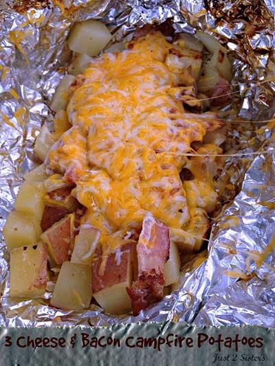 3 Cheese Bacon Campfire Potatoes