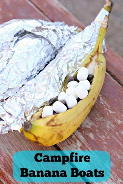Campfire Banana Boat Recipe