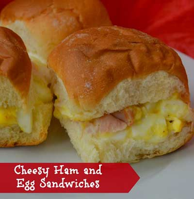 Cheesy Ham and Egg Sandwiches