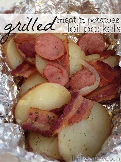 Grilled Meat 'n Potatoes Foil Packets