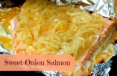 Sweet Onion Grilled Salmon