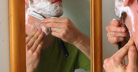 shaving cut throat