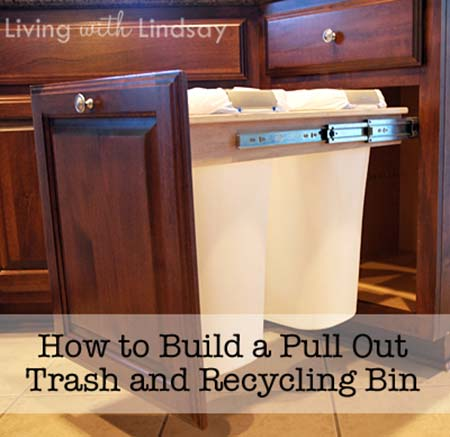 Pull Out Trash and Recycling Bin