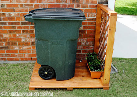 Simple Garbage Can Storage Area