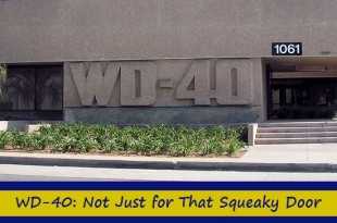WD-40: Not Just for That Squeaky Door
