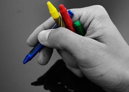 crayon marks?