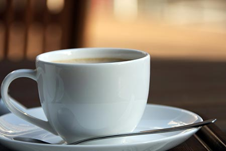strong cup of coffee