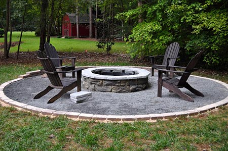 Fossil Stone Fire Pit