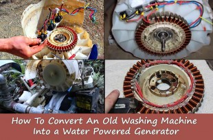 How To Convert An Old Washing Machine Into a Water Powered Generator