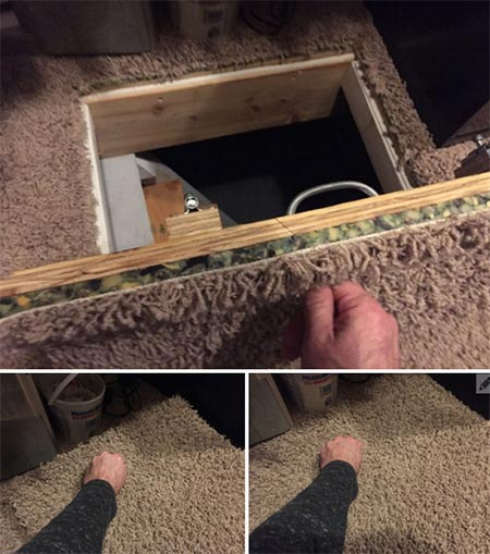14 Secret Crawlspace Access Door