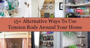 15+ Alternative Ways To Use Tension Rods Around Your Home