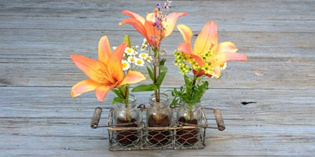 Coffee & Mason Jar Flower Vase