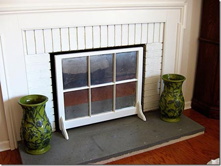 Cover fireplace when not in use