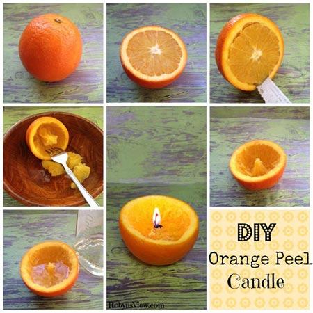Orange Peel Candles