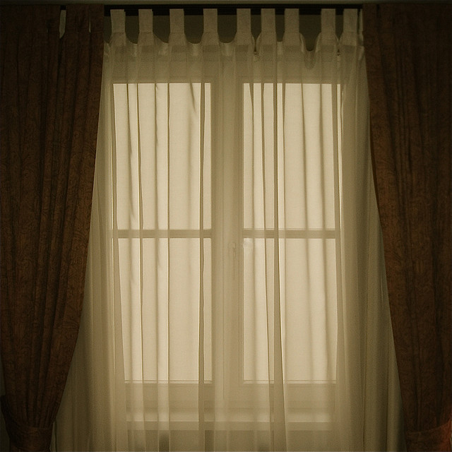 Double up drapes and close at nigh