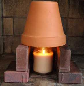 Terra cotta pot heater: