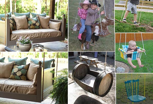 10 DIY Patio and Garden Swings
