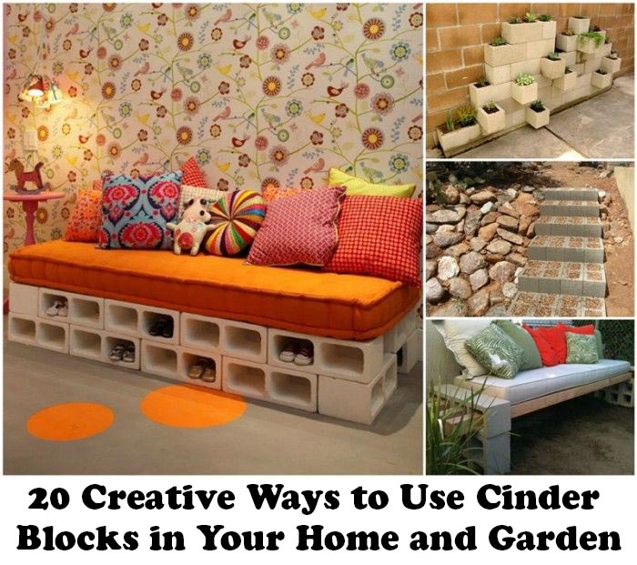 20 creative ways to use cinder blocks in your home and garden home and gardening ideas