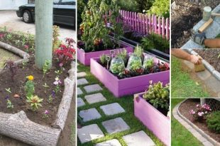 25+ Garden Bed Edging Ideas