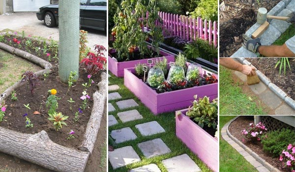 25 garden bed edging ideas