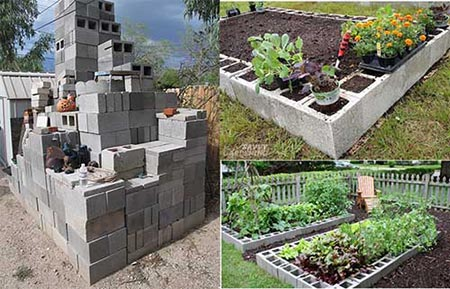 Building A Raised Garden Bed Out Of Cinder Blocks: