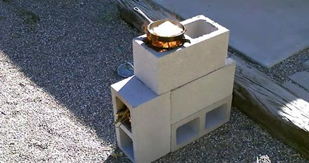 DIY Cinder Block Rocket Stove