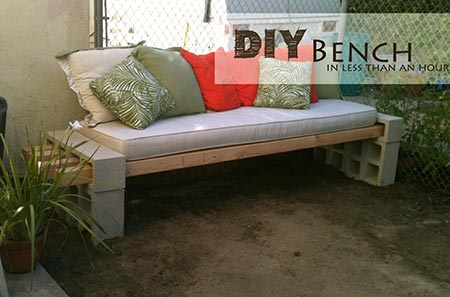 DIY Outdoor Bench - in less than an hour