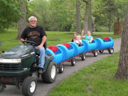 Drum Barrel Train Car