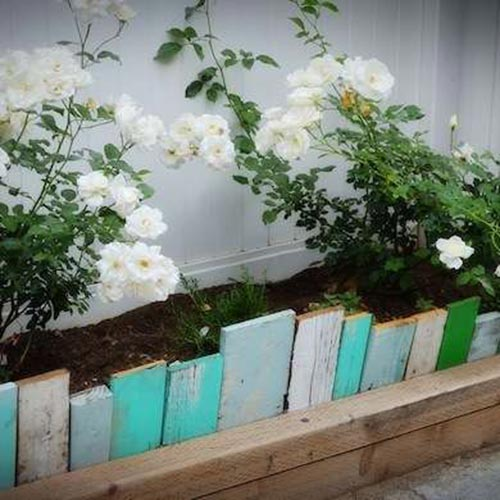 Reclaimed wood Edging