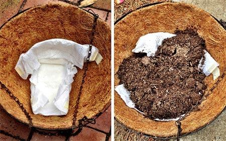 Using Diapers To Retain Moisture
