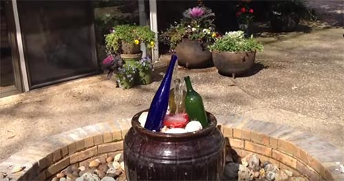 Wine Bottle waterfall