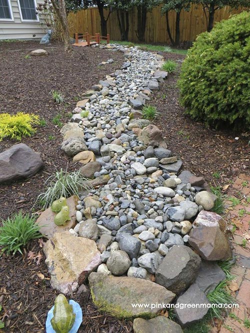 dry Creek Bed Edging Idea