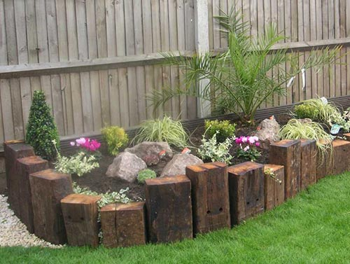 vertical railway sleepers