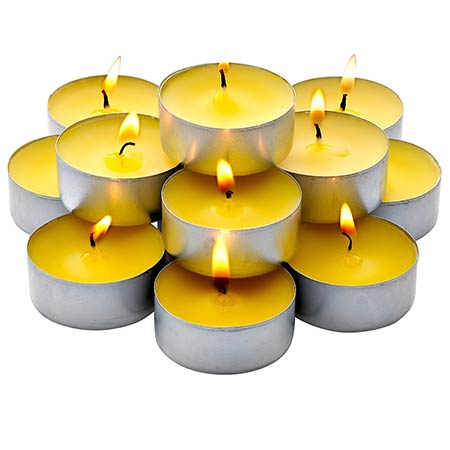 Citronella Summer Yellow Tealight Candles