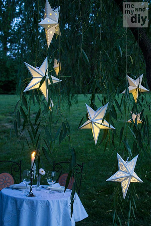 Outdoor lighting diy 39 s to brighten up your summer home for Diy star lantern