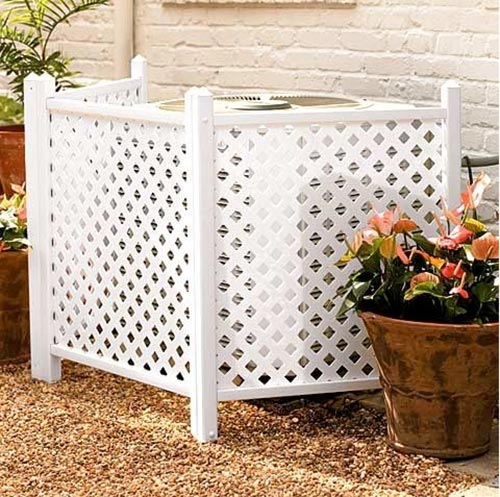 20 diy garden projects anyone can make home and for Ways to hide air conditioning units