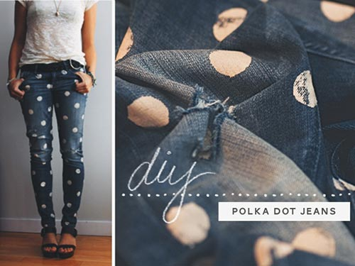 Do-It-Yourself: Dotty Jeans