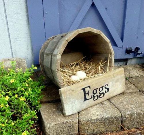 Easy DIY Wooden Half Barrel Chicken Nesting Box