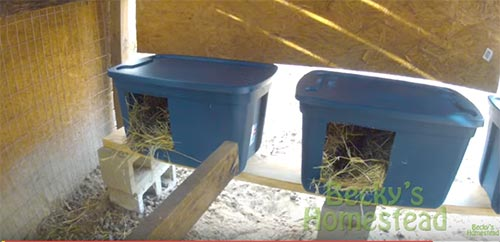 Easy to Make Nesting Boxes for Chickens