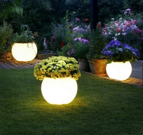 Simple Garden Lights Idea