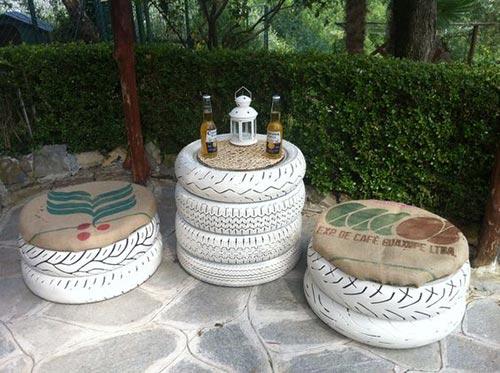 Tire Garden Furniture Set