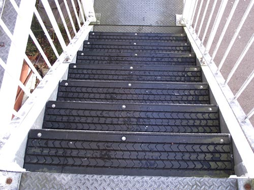 Tire Tread Skid proof stairs