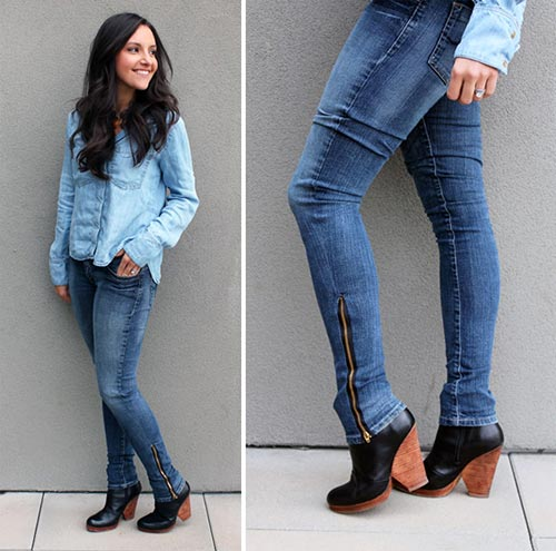 Turn Bootcut Jeans into Skinny Jeans