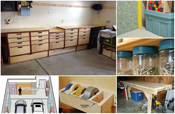 20 diy garage storage and organization ideas home and for Garage storage plans